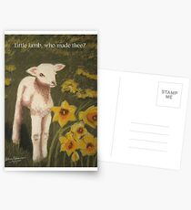 Little lamb, who made thee? Postcards
