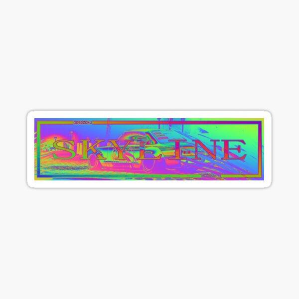 Skyline Psychedelic Slap Sticker Sticker
