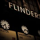 Flinders st station clocks by Andrew Wilson
