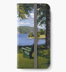 """""""Palisades"""" oil painting by Reed Prescott iPhone Wallet/Case/Skin"""