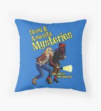 Nomi and Amanita Mysteries Throw Pillow