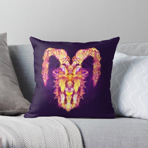 Capricorn Zodiac Lightburst Throw Pillow