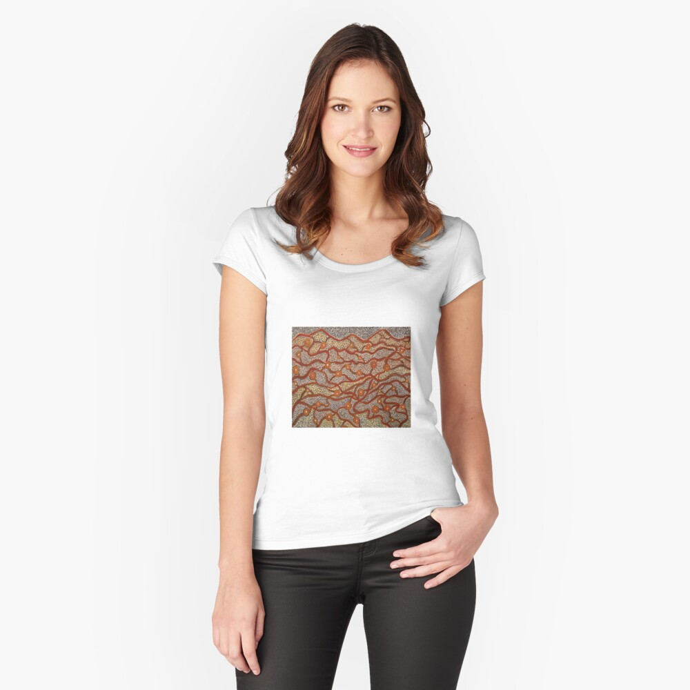 Majestic Mountains Fitted Scoop T-Shirt