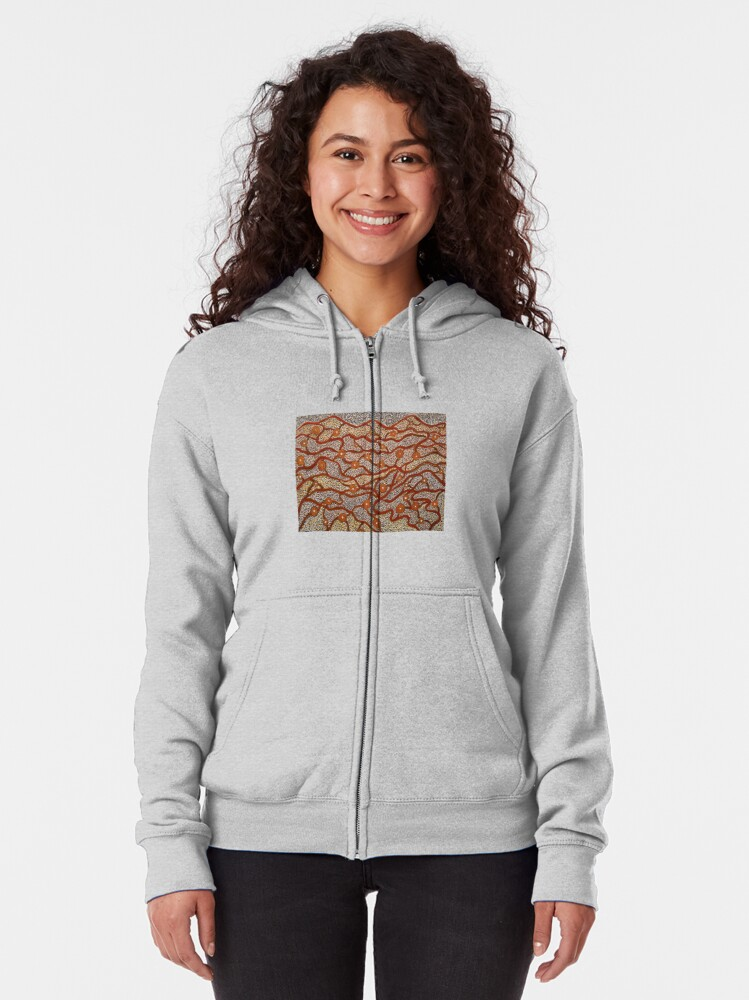 Alternate view of Majestic Mountains Zipped Hoodie
