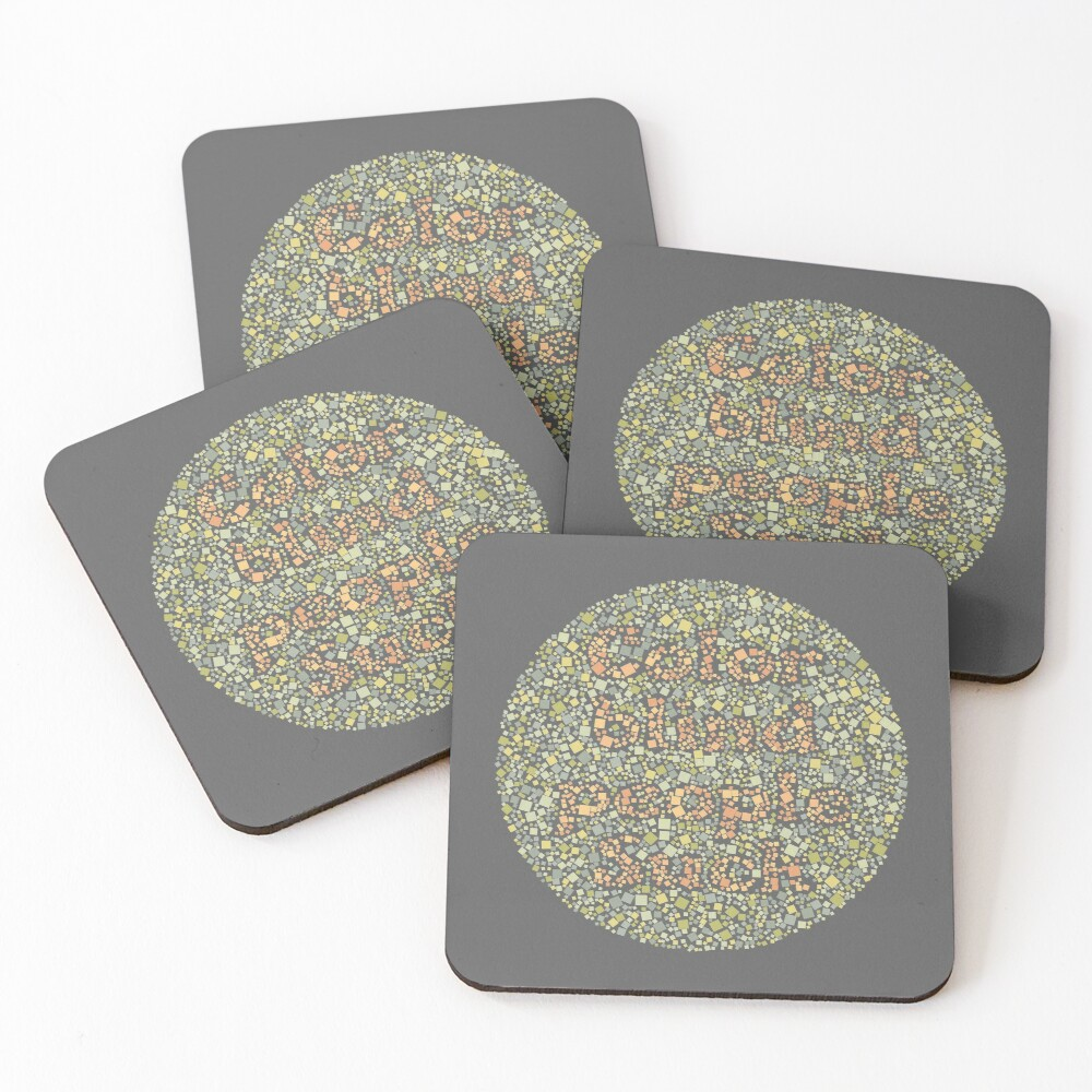 Color Blind People Suck Coasters (Set of 4)