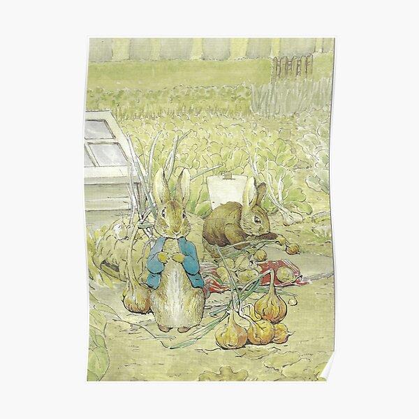 Peter et Benjamin Rabbits - Beatrix Potter Poster