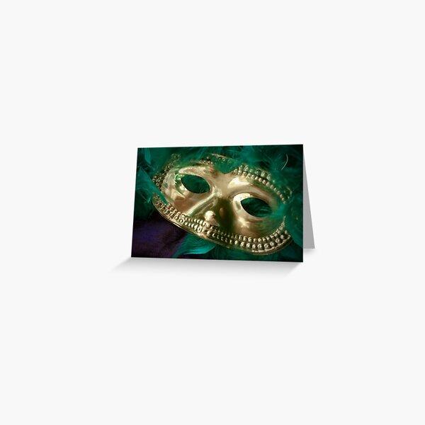 Mardi Gras Mask and Boa Greeting Card