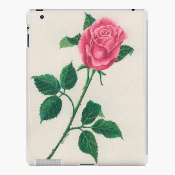 Pink Long Stem Rose iPad Snap Case