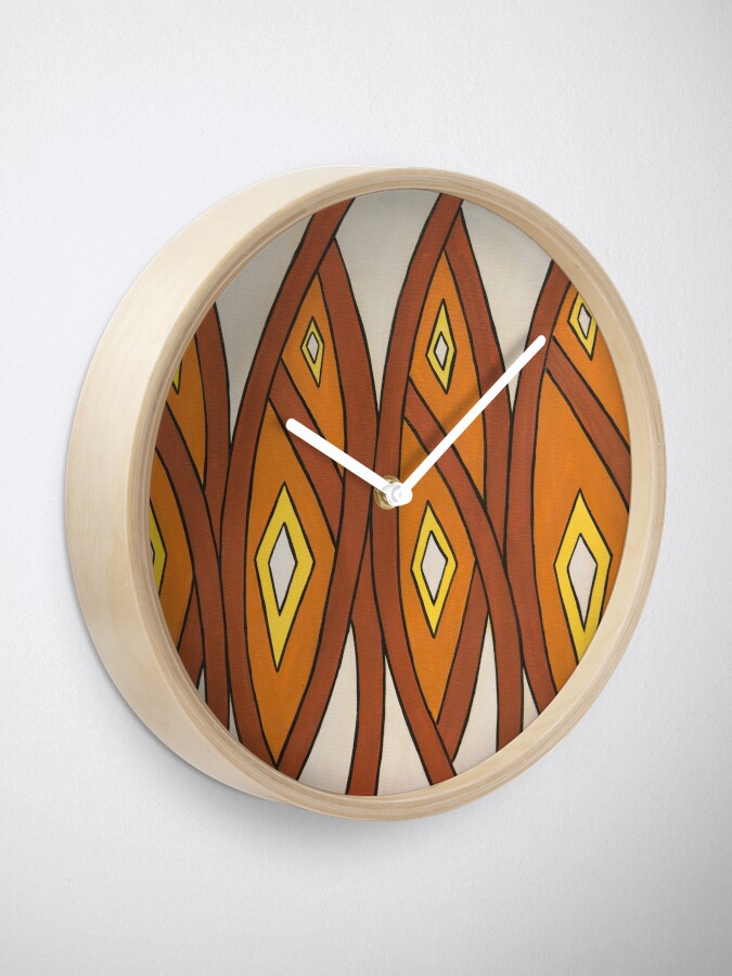 Alternate view of Crocodile Totem Design Clock