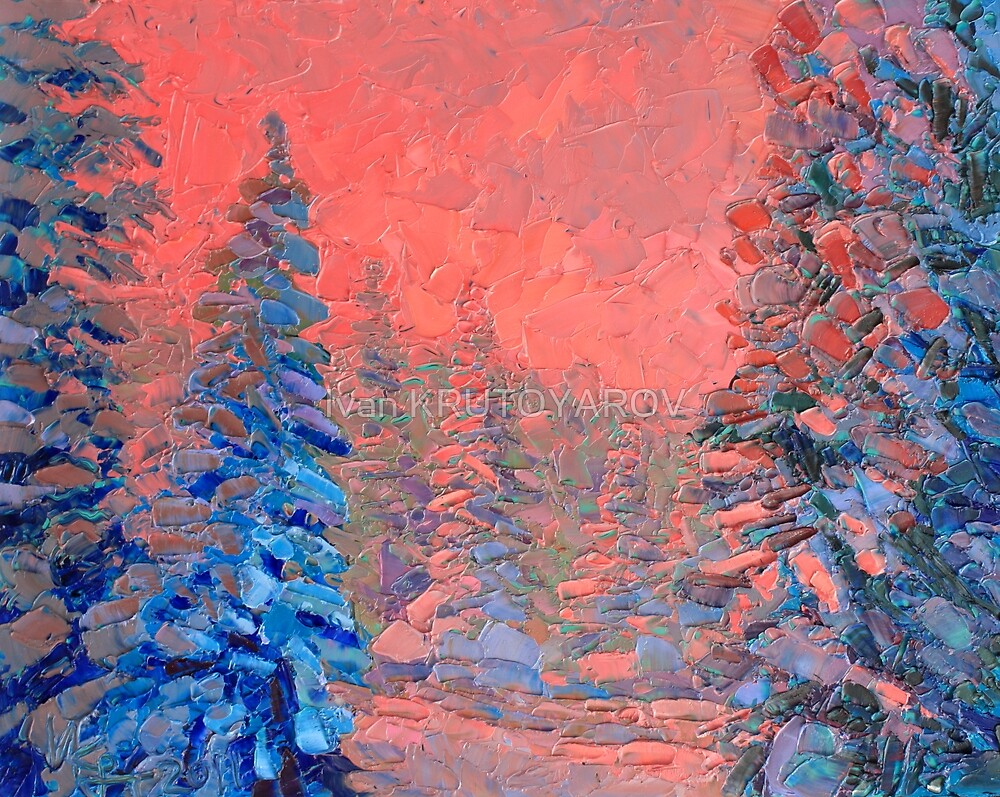Colour dream / 2011 / Oil on glass by Ivan KRUTOYAROV