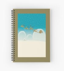 Santa Claus Deer Spiral Notebook