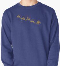 Santa Claus Deer Pullover Sweatshirt
