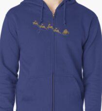Santa Claus Deer Zipped Hoodie