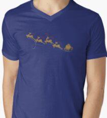 Santa Claus Deer V-Neck T-Shirt