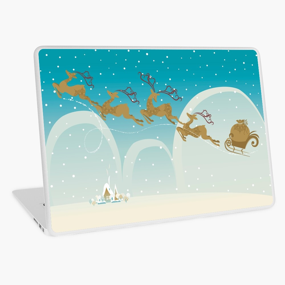 Santa Claus Deer Laptop Skin