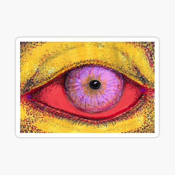 Neon Jaundice Pink Eye Sticker