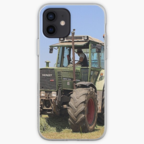 Tractor at work on El Camino, Spain iPhone Soft Case
