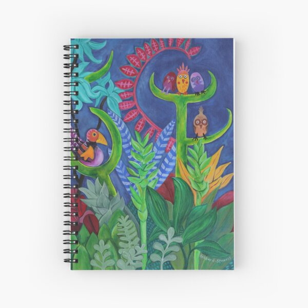 Night Birds Spiral Notebook