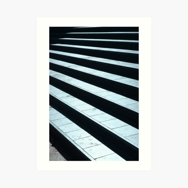 almost there! stairs, blue, achievements, winner, journey, stripes, friendship, cool, lit, trending, most sold, popular, famous, best selling, top selling, highly recommended    Art Print