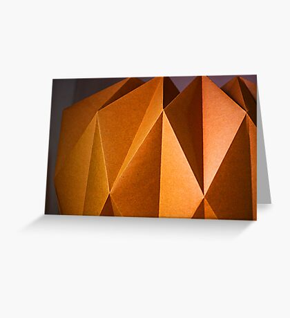 golden paper Greeting Card