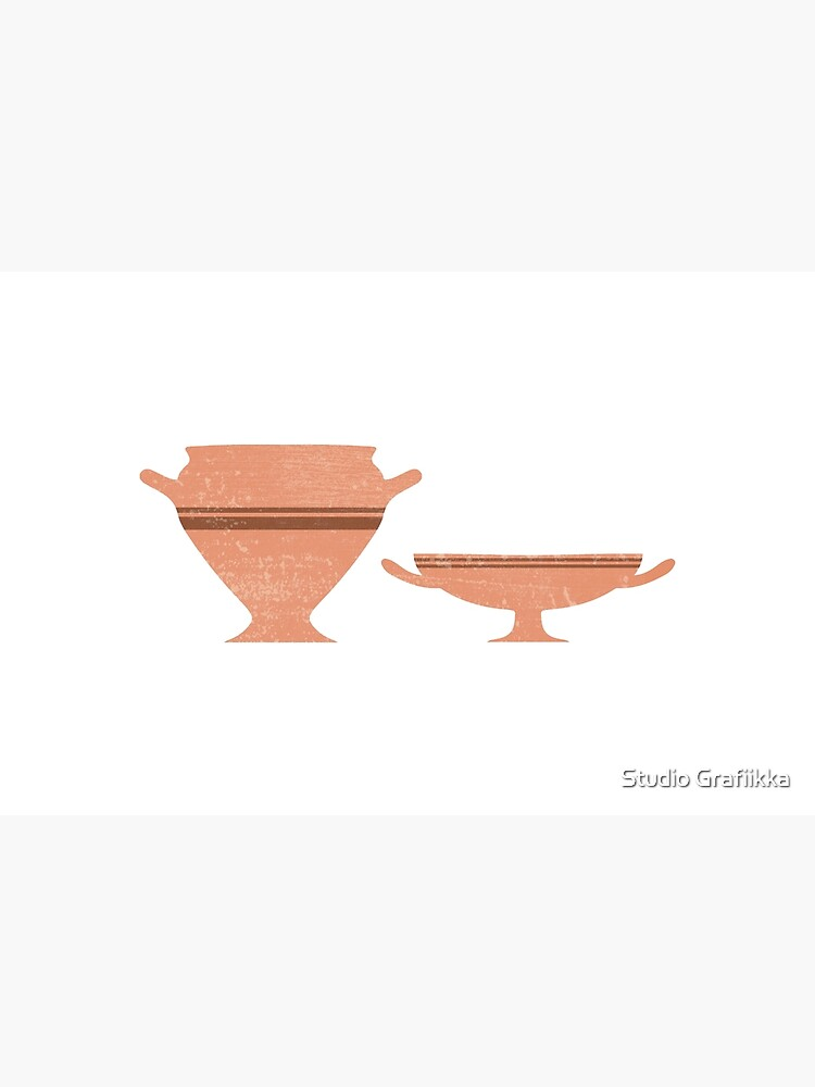 Greek Pottery 34 - Bell Krater, Kylix - Terracotta Series - Modern, Contemporary, Minimal Abstract by Shrijit