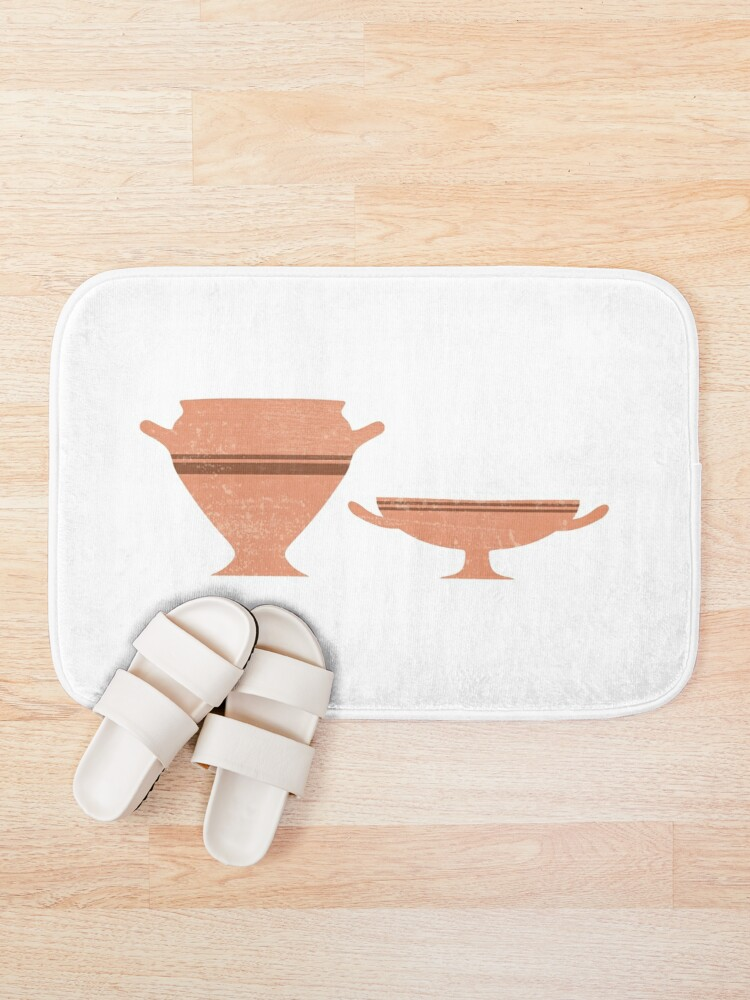 Alternate view of Greek Pottery 34 - Bell Krater, Kylix - Terracotta Series - Modern, Contemporary, Minimal Abstract Bath Mat