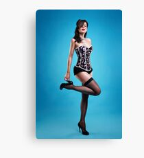 """Strike a pose"" Pin up Girl  Canvas Print"