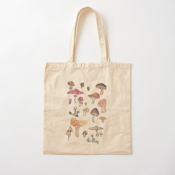 Little Mushrooms!! Cotton Tote Bag