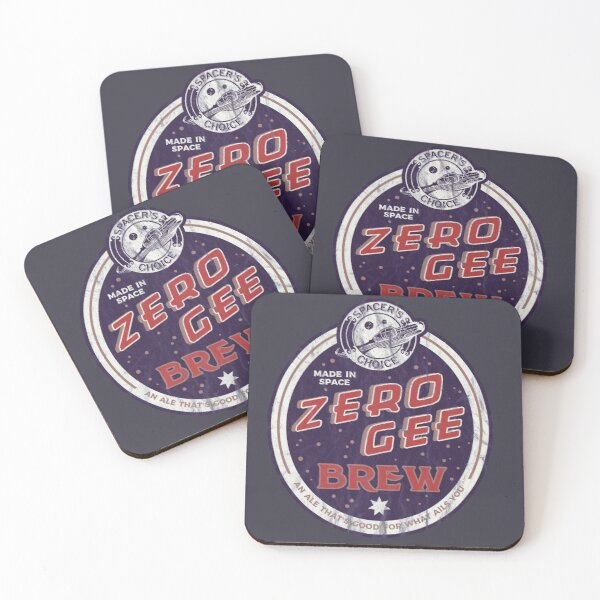 Zero Gee Brew | The Outer Worlds Coasters (Set of 4)