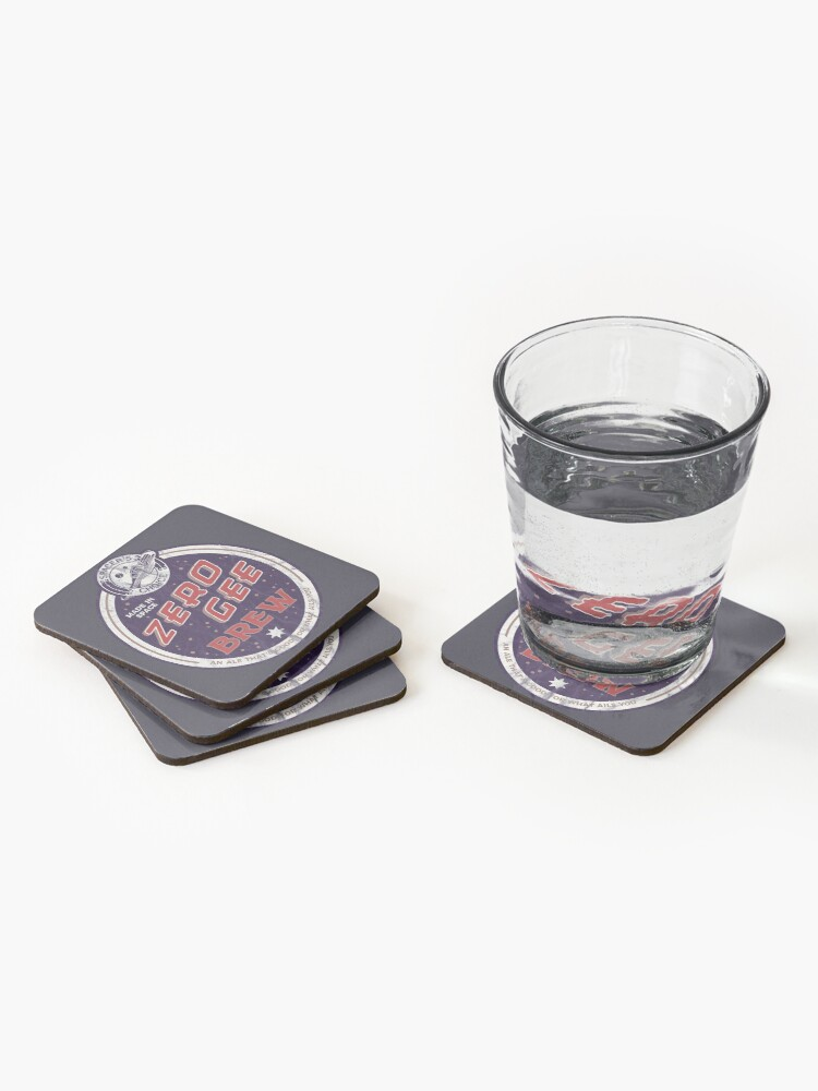 Alternate view of Zero Gee Brew | The Outer Worlds Coasters (Set of 4)
