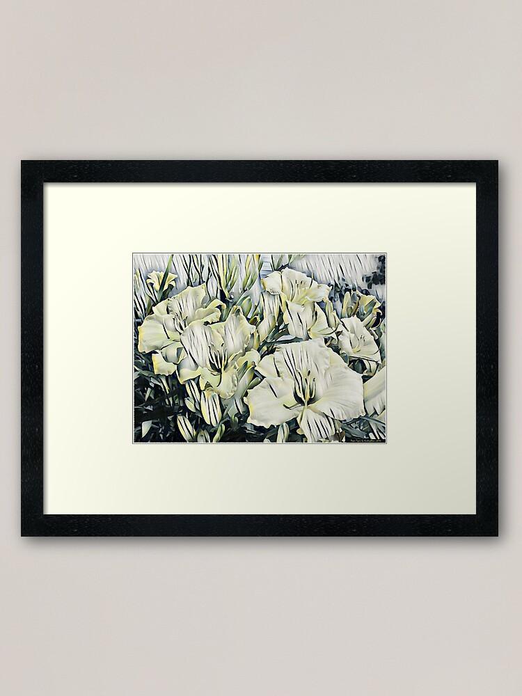 Alternate view of Paper Tiger Lilies Framed Art Print