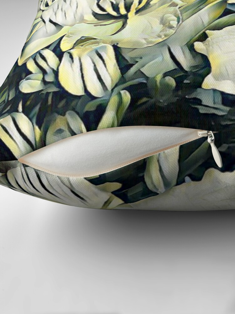 Alternate view of Paper Tiger Lilies Throw Pillow