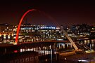 Millennium Bridge, Gateshead, Newcastle. UK by David Lewins