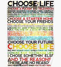Choose Trainspotting Poster