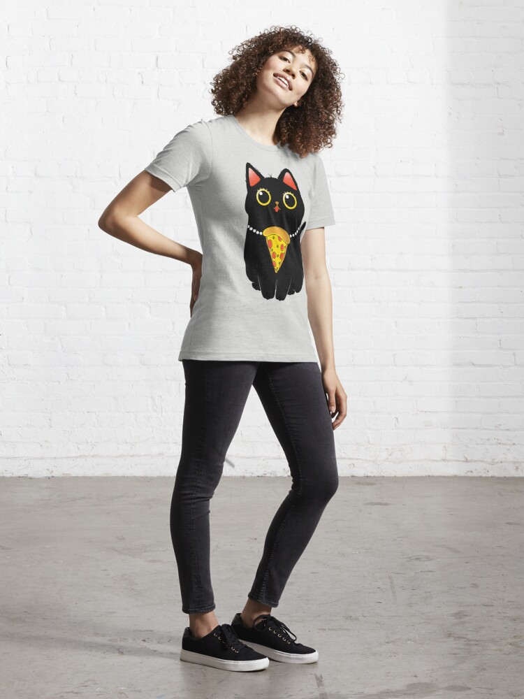 Alternate view of Pizza Cat Essential T-Shirt