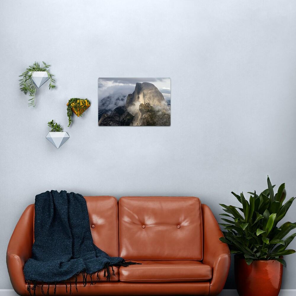 Half Dome in Storm Metal Print