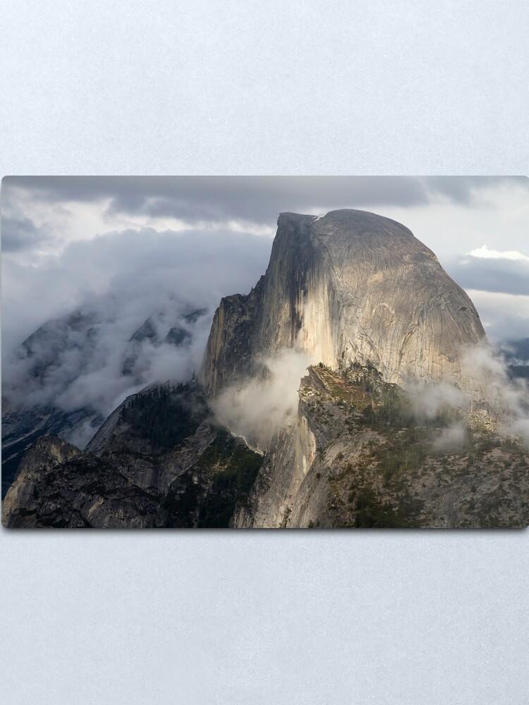 Alternate view of Half Dome in Storm Metal Print