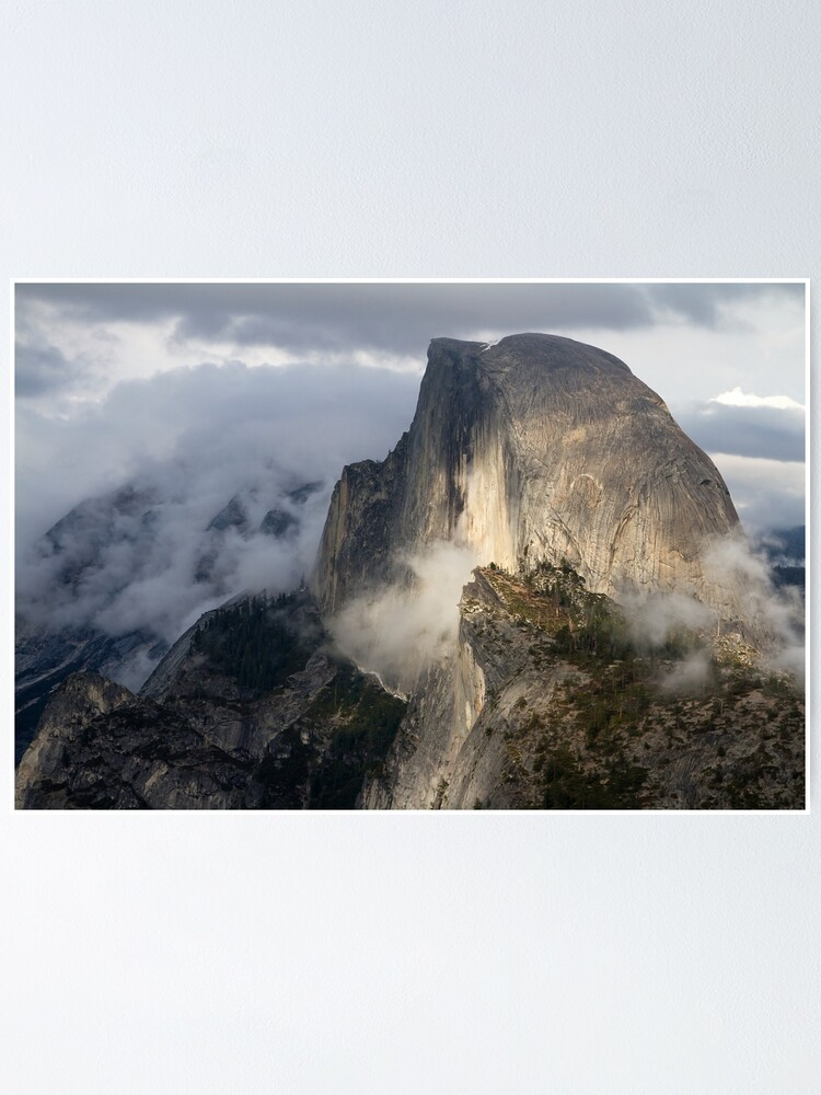 Alternate view of Half Dome in Storm Poster