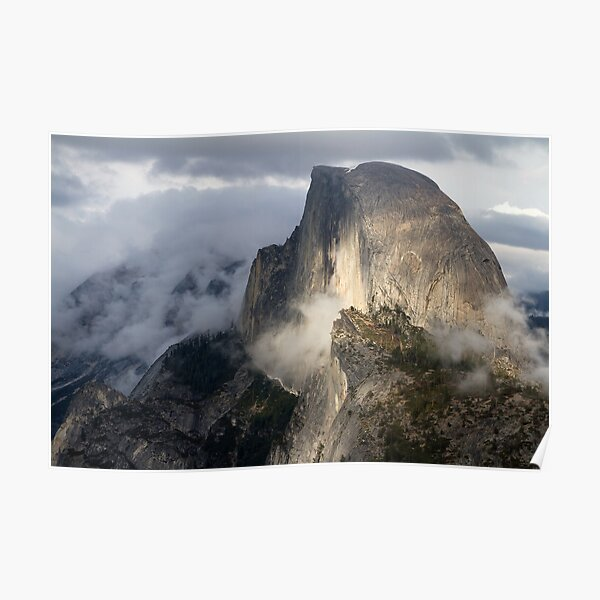 Half Dome in Storm Poster
