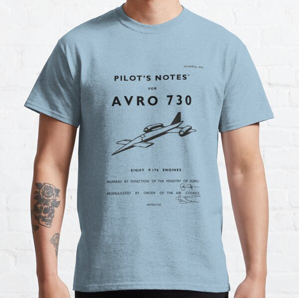 Pilot's Notes for Avro 730 Classic T-Shirt