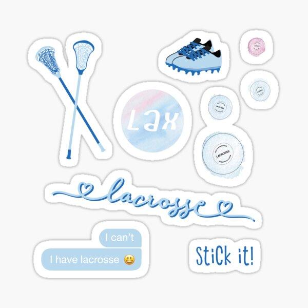 Light Blue Watercolor Lacrosse Pack Sticker