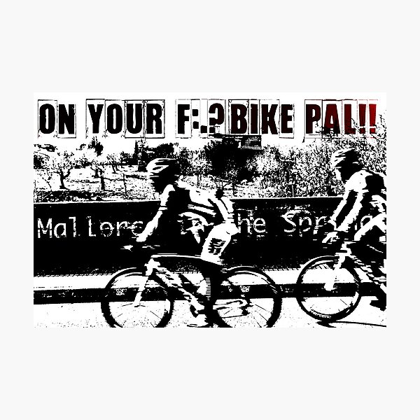 Spring Time Cycling on the Island of Mallorca Photographic Print