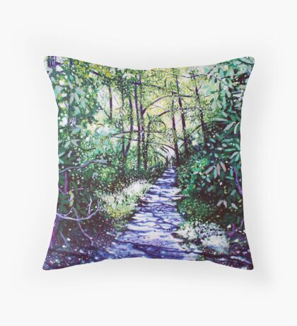 'The Glen Burney Trail' (Blowing Rock, NC) Throw Pillow
