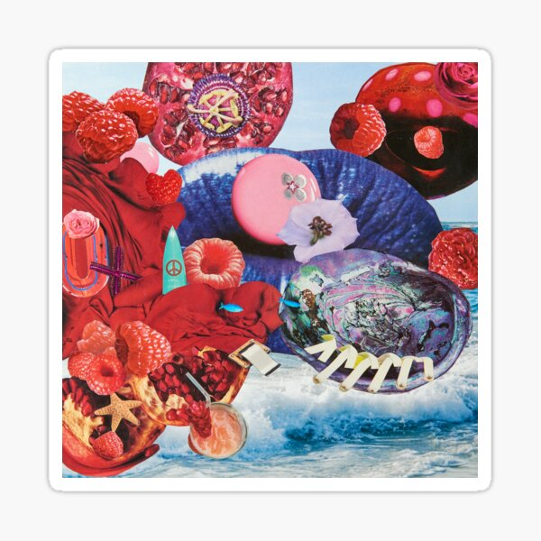 Marveling the Mix of Raspberries and Ocean Magix Sticker