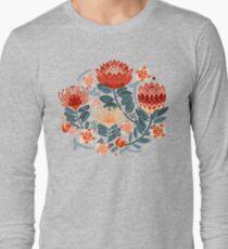 Protea Chintz - Mustard Long Sleeve T-Shirt