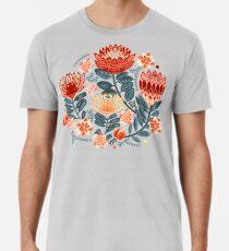 Protea Chintz - Mustard Premium T-Shirt