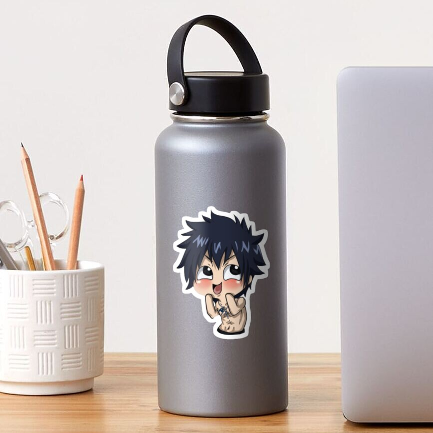 gray fullbuster sticker by ummabee redbubble