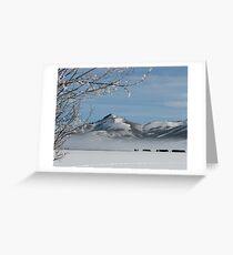 Walton Ranch in Winter Greeting Card