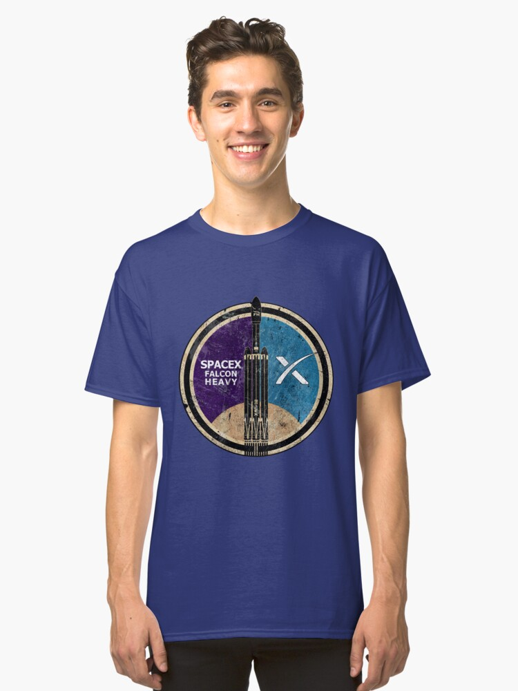 Alternate view of SpaceX Falcon Heavy Classic T-Shirt