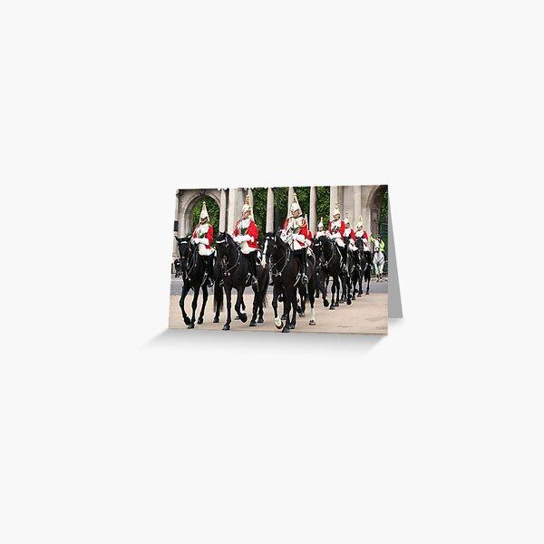 Royal Household Cavalry, London, England Greeting Card